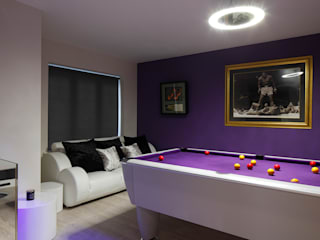 New Build Contemporary Interior Design Ealing Quirke McNamara Living room Purple/Violet