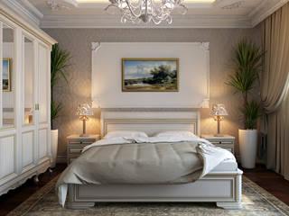 студия визуализации и дизайна интерьера '3dm2' Dormitorios de estilo clásico