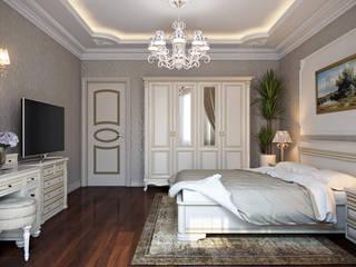 Проект 035: спальня: Спальни в . Автор – студия визуализации и дизайна интерьера '3dm2', Классический