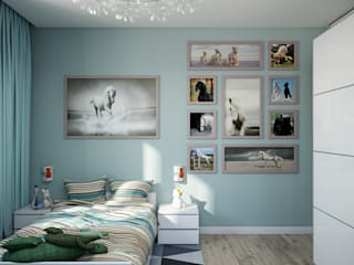 Проект 036: детская: Детские комнаты в . Автор – студия визуализации и дизайна интерьера '3dm2', Минимализм