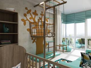 Проект 038: детская + гардеробная: Детские комнаты в . Автор – студия визуализации и дизайна интерьера '3dm2', Минимализм