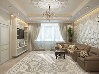 студия визуализации и дизайна интерьера '3dm2' Pasillos, vestíbulos y escaleras clásicas