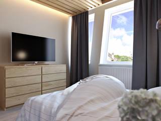 Проект 025: спальня: Спальни в . Автор – студия визуализации и дизайна интерьера '3dm2', Минимализм