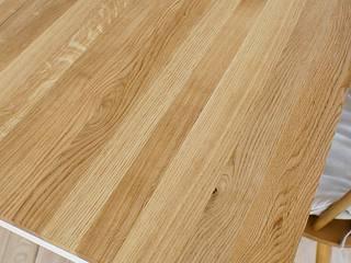Stół, biurko, Industrial White Oak od projekt drewno Industrialny