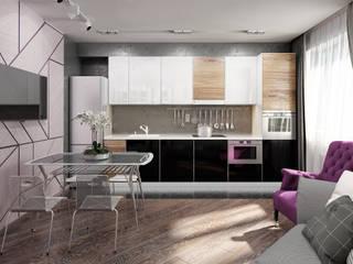 Визуализации проекта квартиры для Марины Кухня в стиле минимализм от Alyona Musina Минимализм