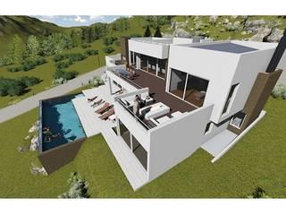 Casas de estilo moderno de trazos urbanos Moderno