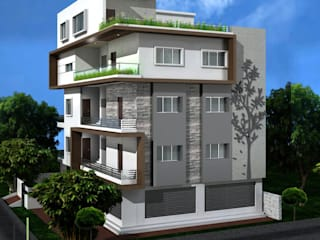Independent Houses in India Eclectic style houses by KREATIVE HOUSE Eclectic