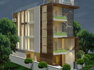 Independent Houses in India Modern houses by KREATIVE HOUSE Modern