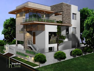 A MODERN HOME SURROUNDED BY NATURE Modern houses by KREATIVE HOUSE Modern Stone