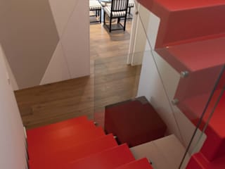 Couloir, entrée, escaliers minimalistes par G/G associati studio di ingegneria e architettura _ing.r.guglielmi_arch.a.grossi Minimaliste