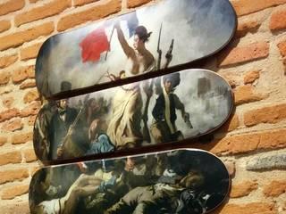 """Triptyque skateboards """"La liberté guidant le peuple"""" par LILIBOARD Éclectique"""