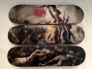 """Triptyque skateboards """"La liberté guidant le peuple"""":  de style  par LILIBOARD"""