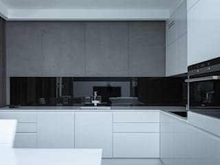 Projekt mieszkania na Wilanowie: styl , w kategorii Kuchnia zaprojektowany przez Base Architekci