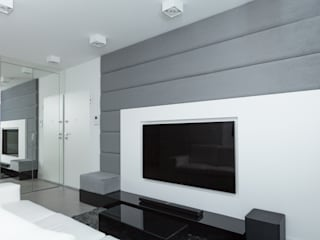 Projekt mieszkania na Wilanowie: styl , w kategorii Salon zaprojektowany przez Base Architekci
