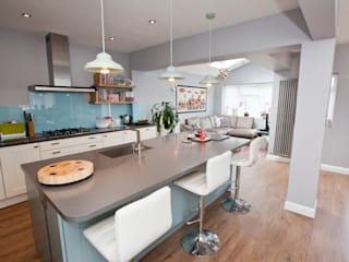 Vibrant and Modern Kitchen Extension Redesign ห้องครัว Blue