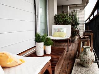 Vanderlei Балкон и терраса в стиле модерн от Camila Vicari Arquitetura da Paisagem Модерн