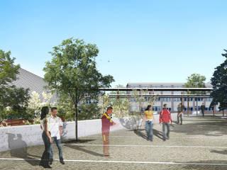 Perspective du concours de la nouvelle entrée de l'établissement:  de style  par STUDIO D'ARCHITECTURE RANSON-BERNIER