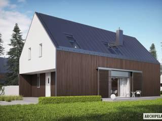 PROJEKT DOMU EX 13 - nowoczesna stodoła w najlepszym wydaniu! Nowoczesne domy od Pracownia Projektowa ARCHIPELAG Nowoczesny