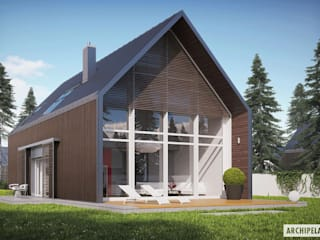 PROJEKT DOMU EX 13 - nowoczesna stodoła w najlepszym wydaniu! : styl , w kategorii Domy zaprojektowany przez Pracownia Projektowa ARCHIPELAG,Nowoczesny