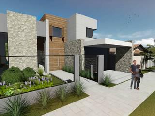CASA A VITRINE: Casas  por DK arquitetos,