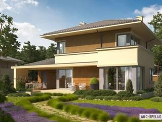 Casas de estilo mediterráneo de Pracownia Projektowa ARCHIPELAG Mediterráneo