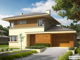 PROJEKT DOMU RODRIGO III G1 : styl , w kategorii Domy zaprojektowany przez Pracownia Projektowa ARCHIPELAG,Śródziemnomorski