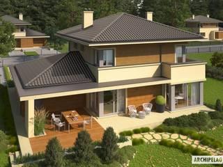 PROJEKT DOMU RODRIGO III G1 Śródziemnomorskie domy od Pracownia Projektowa ARCHIPELAG Śródziemnomorski