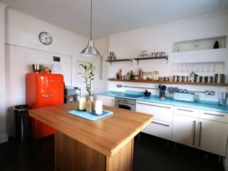 Bespoke 1950's inspired kitchen Eclectic style kitchen by Redesign Eclectic