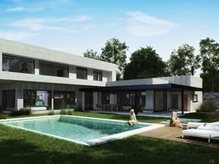 Casa Country Piletas modernas: Ideas, imágenes y decoración de DOD studio Moderno