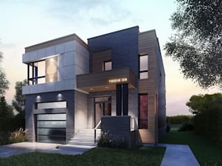 Casa en Montée Sagala, Cànada. Casas modernas: Ideas, imágenes y decoración de DOD studio Moderno