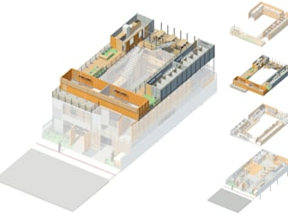 Hostel Container:   por DK arquitetos,