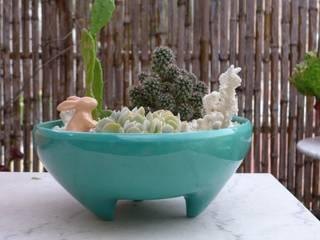 CURADORAS Minimalist style garden Ceramic Turquoise