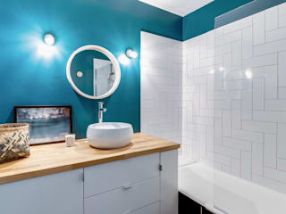 Modern Banyo Transition Interior Design Modern