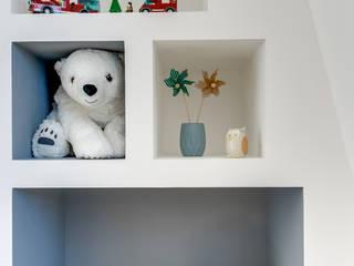 PROJET COLOMBES, Agence Transition Interior Design, Architectes: Carla Lopez et Margaux Meza: Chambre d'enfant de style  par Transition Interior Design