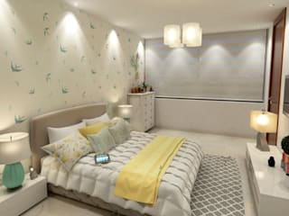 Area5 arquitectura SAS Modern style bedroom Yellow