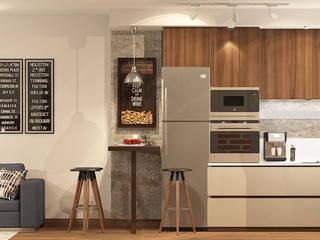 трешка из однушки Кухни в эклектичном стиле от AnARCHI Эклектичный