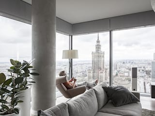 Apartament w Śródmieściu Nowoczesny salon od Zofia Wyganowska Nowoczesny