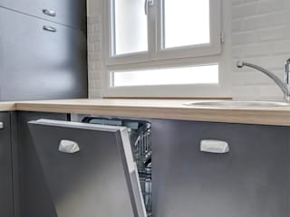 Une petite cuisine sur-mesure Cuisine moderne par CuisiShop Moderne