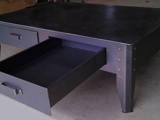 Table basse en acier par RP METAL CREATION Industriel