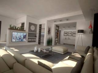 HOUSE MZ: Soggiorno in stile in stile Moderno di Ivan Rivoltella
