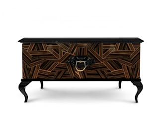 GUGGENLTEIM Nightstand By Boca do Lobo por Be-Luxus Clássico
