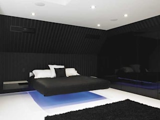Bedroom Interiors Quirke McNamara Modern style bedroom Black