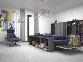 Progetto di Interior Design Soggiorno moderno di Teresa Lamberti Architetto Moderno