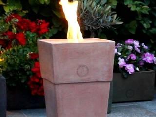 Feuerstellen aus Impruneta Terrakotta für den Betrieb mit Bioethanol im Indoor- und Outdoorbereich:   von Flammentopf e.U.