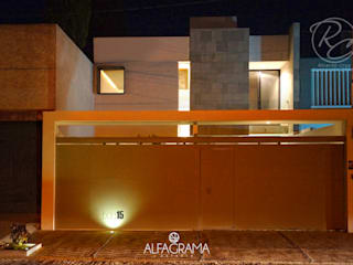 Alfagrama estudio Modern houses Metal Green