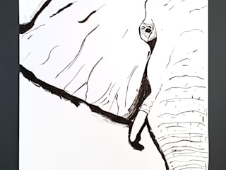 PAINTBYMGB – Elephant sketch:  tarz