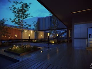 Сад в стиле минимализм от 21arquitectos Минимализм