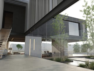 Pasillos, vestíbulos y escaleras de estilo minimalista de 21arquitectos Minimalista