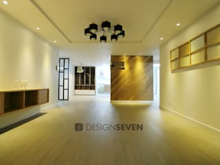 디자인세븐 Minimalist living room Wood Wood effect