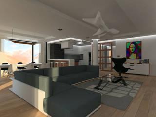 Living room by Symbioses - Design & Construção